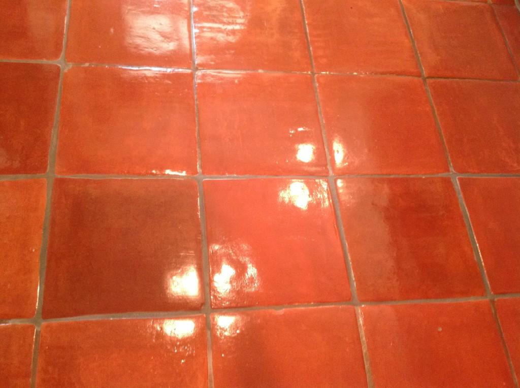 staining saltillo tiles